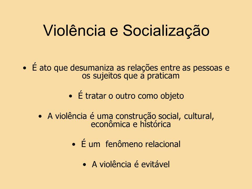Violência e Socialização