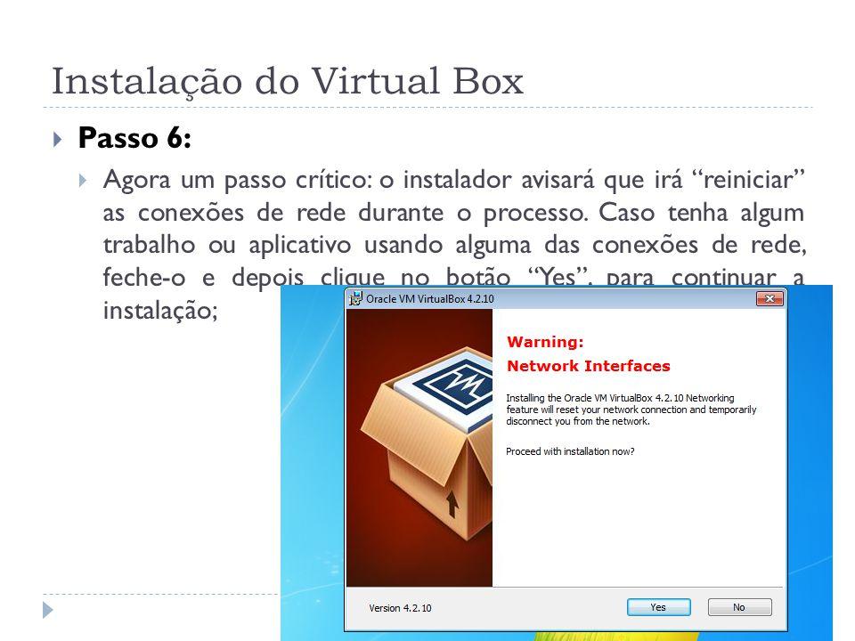 Instalação do Virtual Box