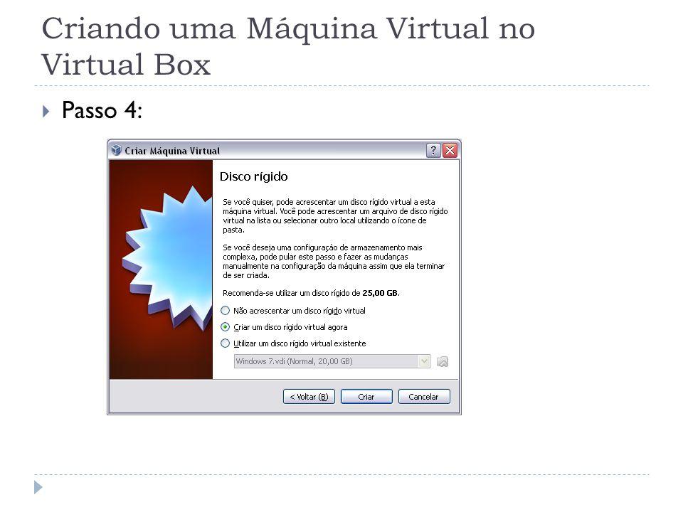 Criando uma Máquina Virtual no Virtual Box
