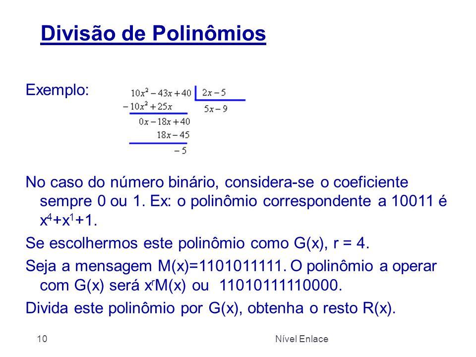 Divisão de Polinômios Exemplo: