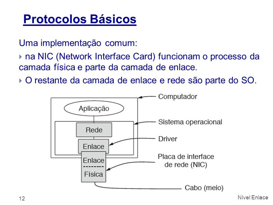 Protocolos Básicos Uma implementação comum: