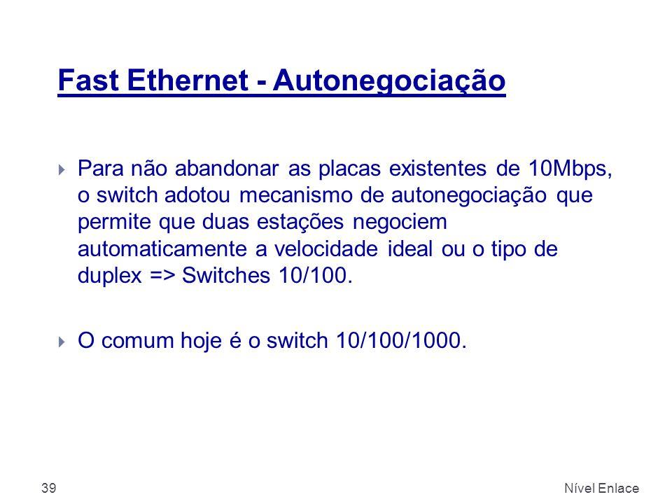 Fast Ethernet - Autonegociação