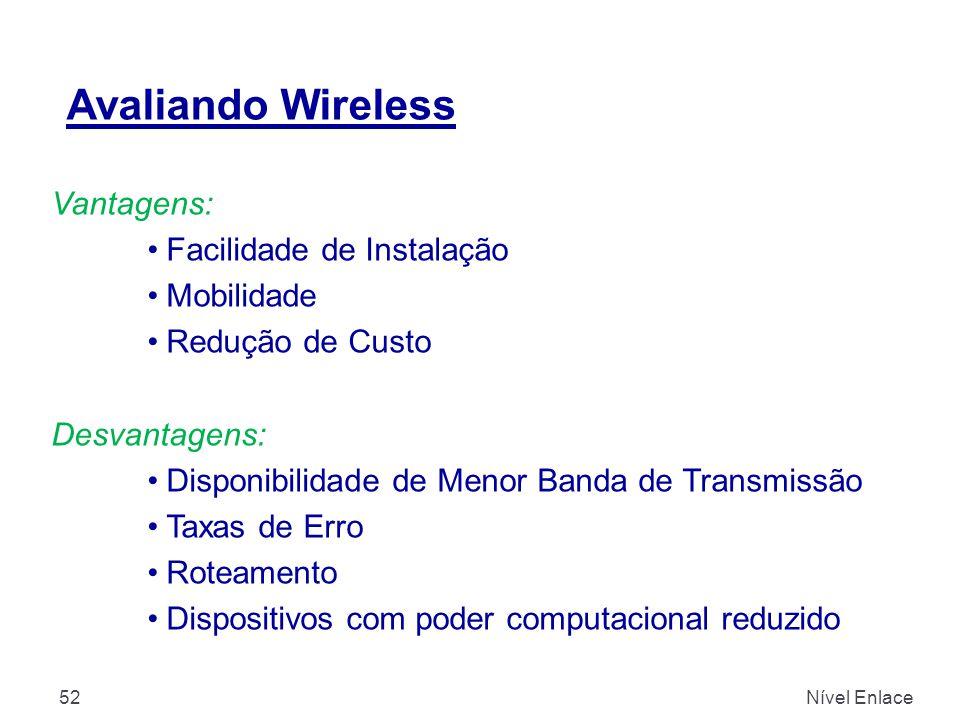 Avaliando Wireless Vantagens: Facilidade de Instalação Mobilidade
