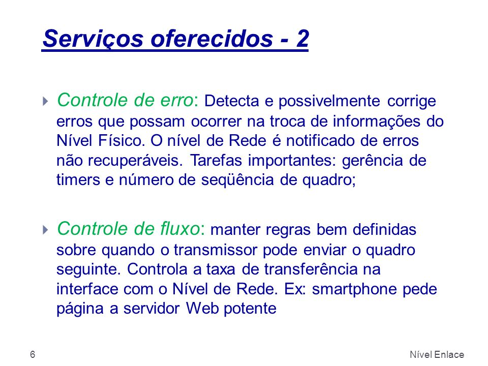 Serviços oferecidos - 2