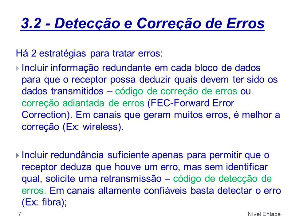 3.2 - Detecção e Correção de Erros