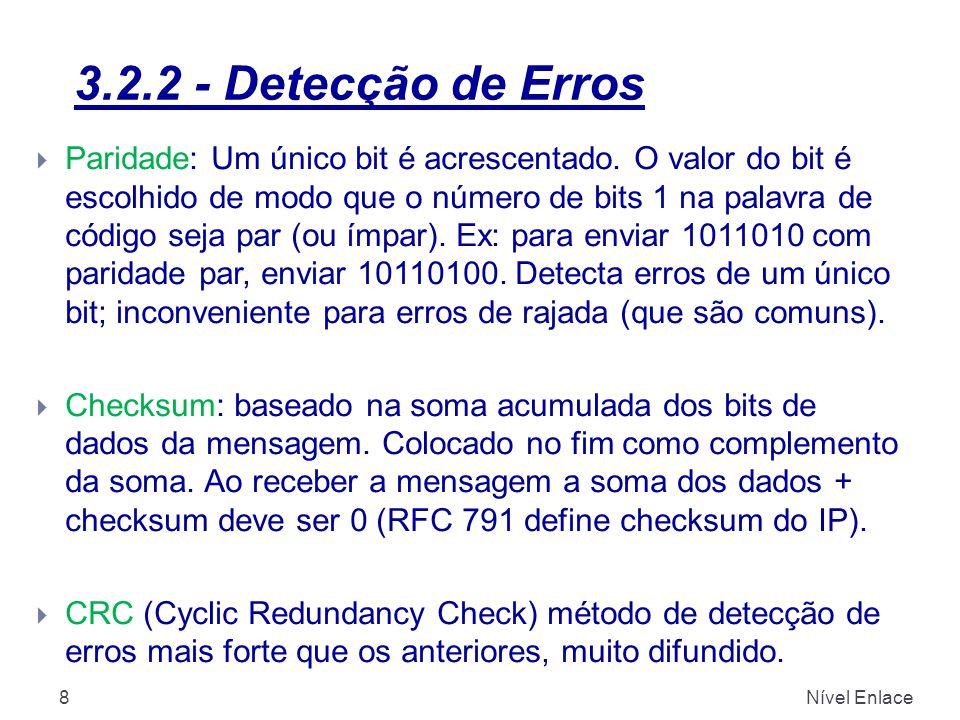 3.2.2 - Detecção de Erros