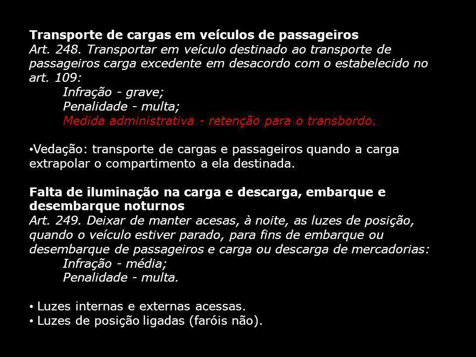 Transporte de cargas em veículos de passageiros