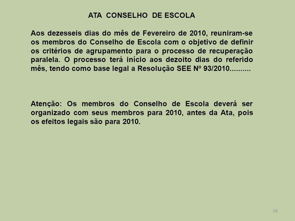 ATA CONSELHO DE ESCOLA