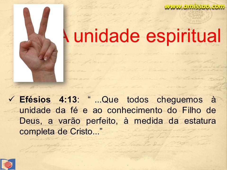 A unidade espiritual