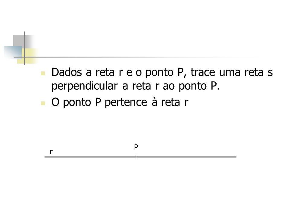 O ponto P pertence à reta r