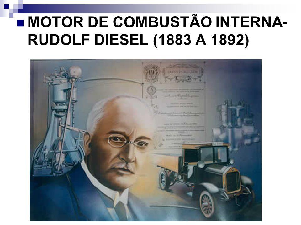 MOTOR DE COMBUSTÃO INTERNA- RUDOLF DIESEL (1883 A 1892)