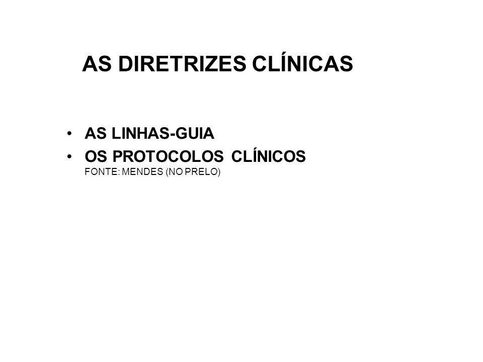 AS DIRETRIZES CLÍNICAS