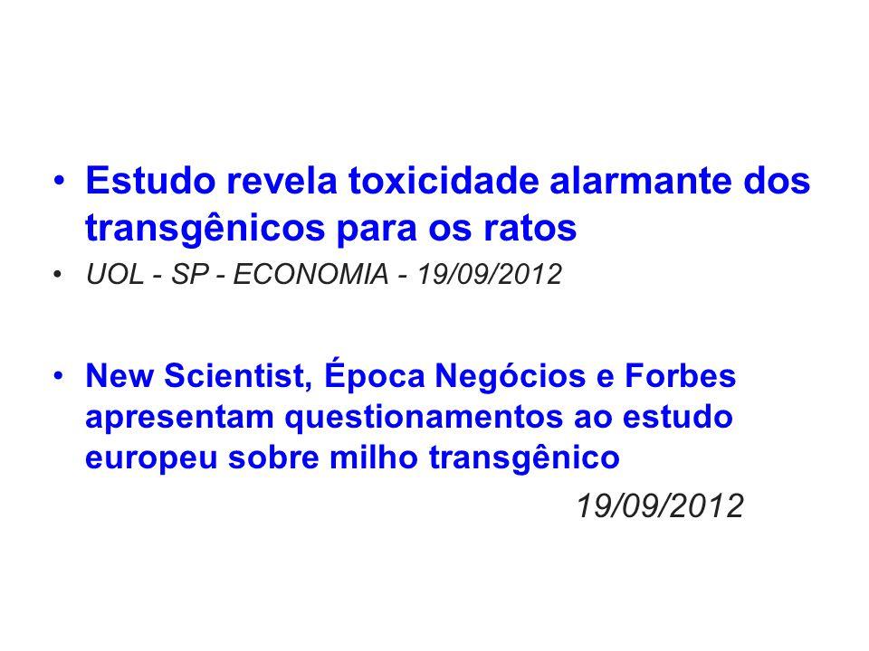Estudo revela toxicidade alarmante dos transgênicos para os ratos