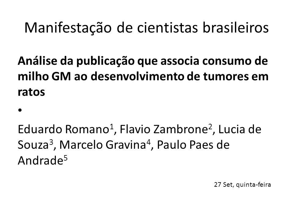 Manifestação de cientistas brasileiros