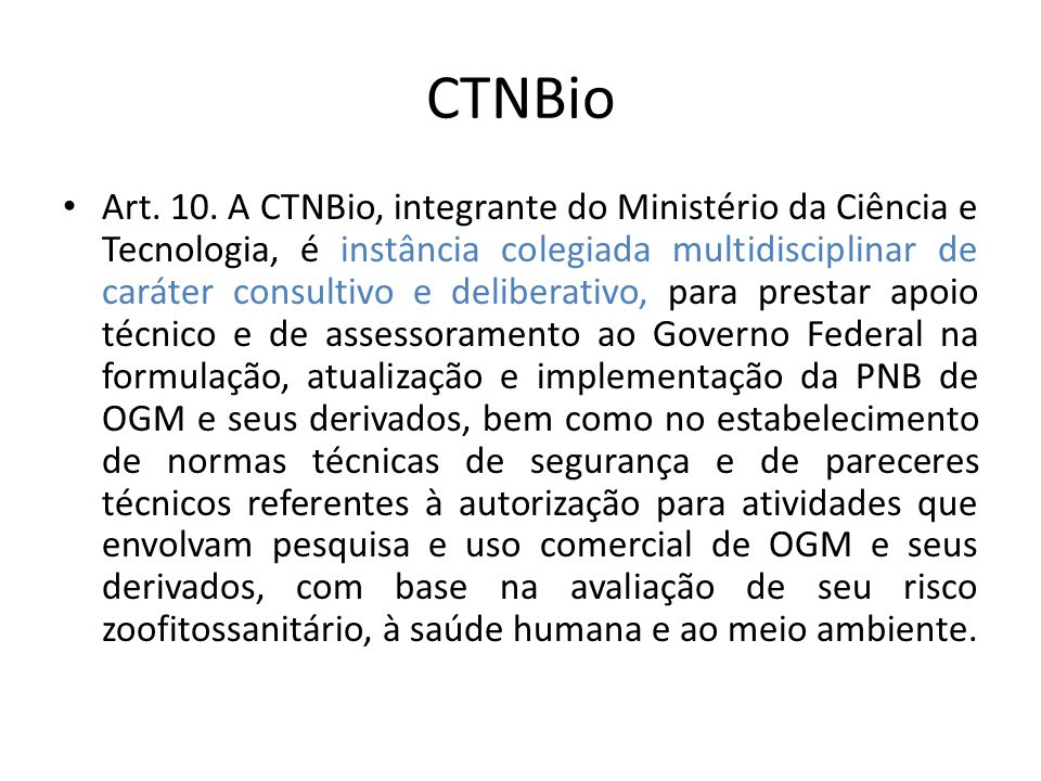 CTNBio