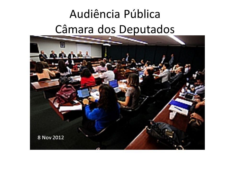 Audiência Pública Câmara dos Deputados