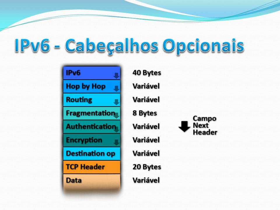 IPv6 - Cabeçalhos Opcionais