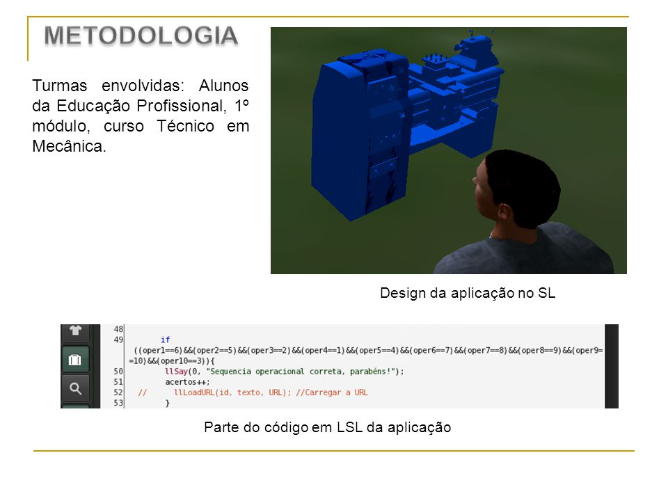 Design da aplicação no SL