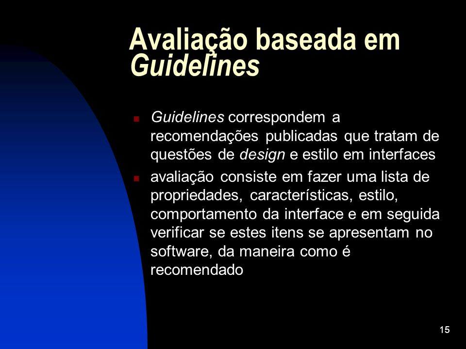 Avaliação baseada em Guidelines
