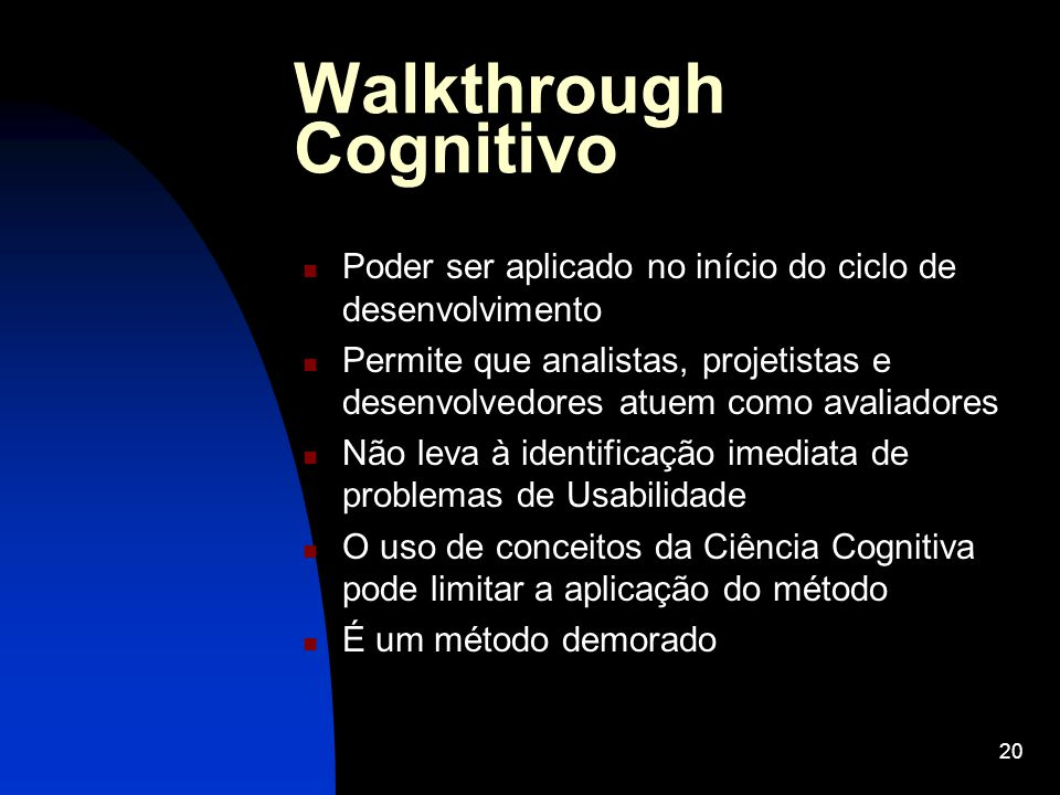 Walkthrough Cognitivo