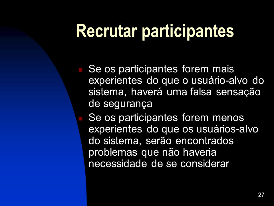 Recrutar participantes