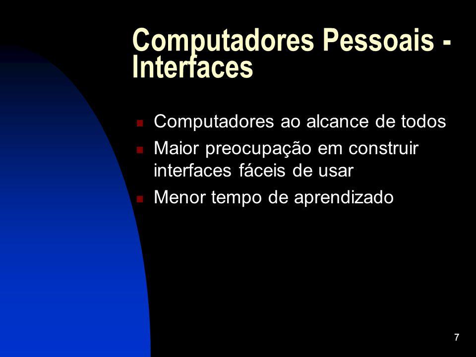 Computadores Pessoais - Interfaces