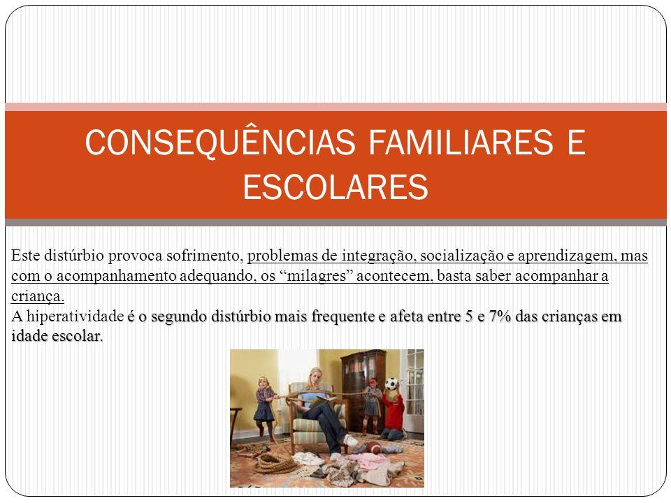 CONSEQUÊNCIAS FAMILIARES E ESCOLARES