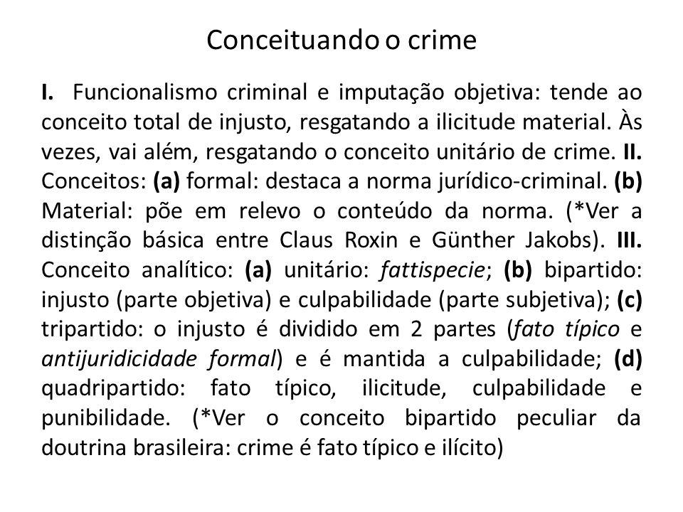 Conceituando o crime