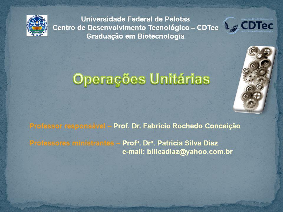 Operações Unitárias Universidade Federal de Pelotas