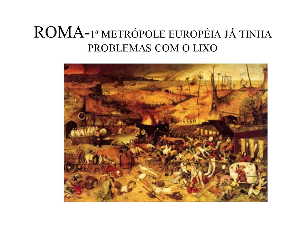 ROMA-1ª METRÓPOLE EUROPÉIA JÁ TINHA PROBLEMAS COM O LIXO