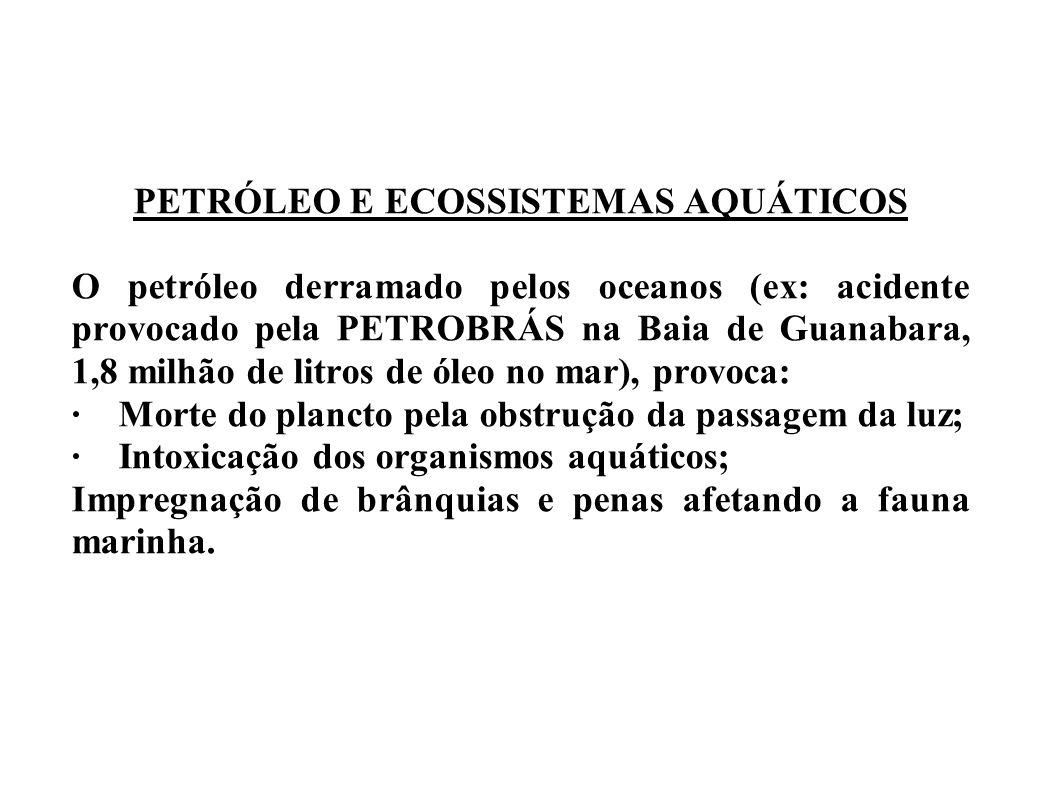 PETRÓLEO E ECOSSISTEMAS AQUÁTICOS