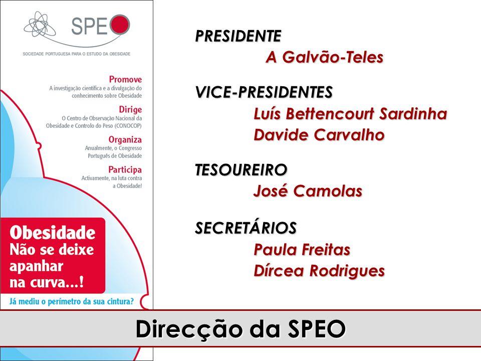 Direcção da SPEO PRESIDENTE A Galvão-Teles VICE-PRESIDENTES