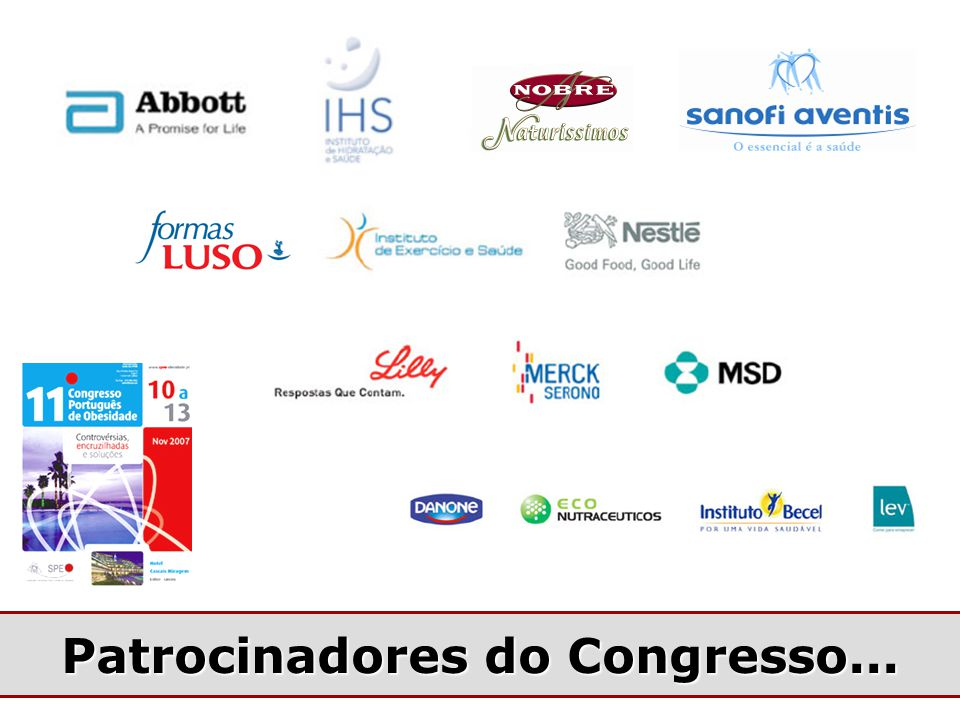 Patrocinadores do Congresso...