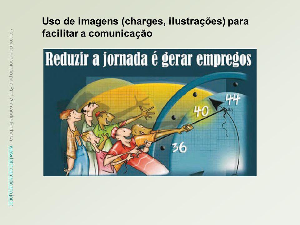 Uso de imagens (charges, ilustrações) para facilitar a comunicação