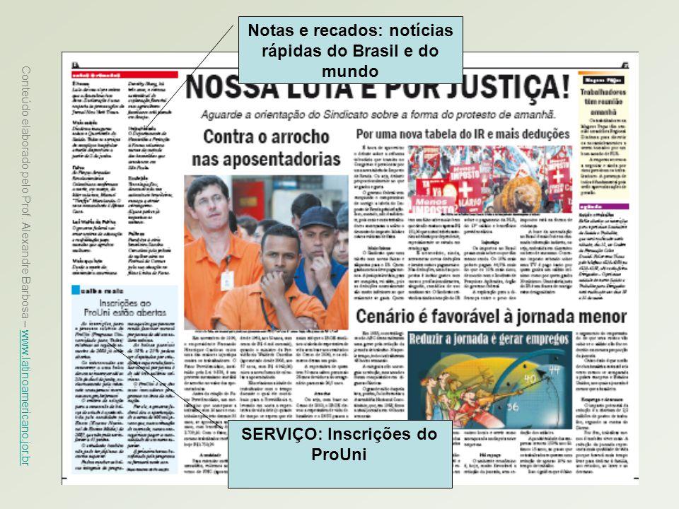 Notas e recados: notícias rápidas do Brasil e do mundo