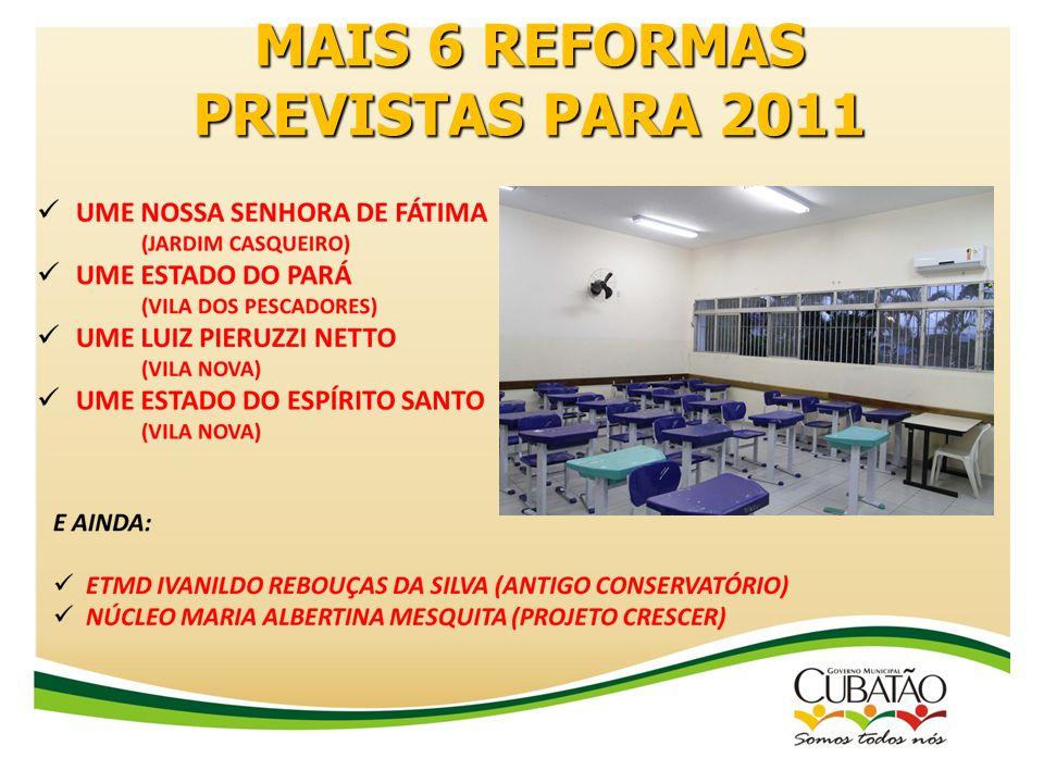 MAIS 6 REFORMAS PREVISTAS PARA 2011