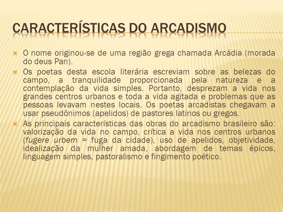 Características do arcadismo