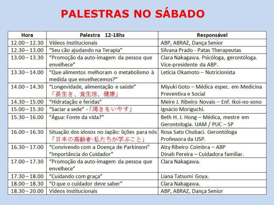 PALESTRAS NO SÁBADO