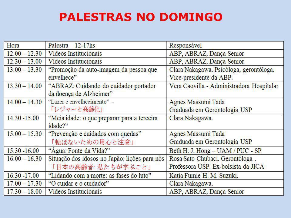 PALESTRAS NO DOMINGO