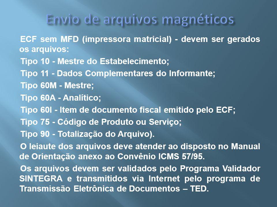 Envio de arquivos magnéticos