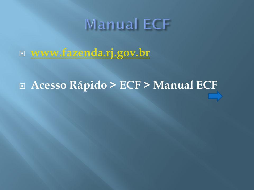 Manual ECF www.fazenda.rj.gov.br