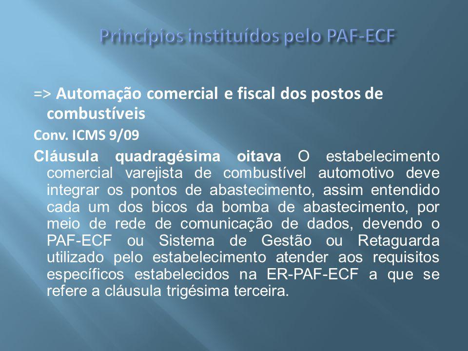Princípios instituídos pelo PAF-ECF