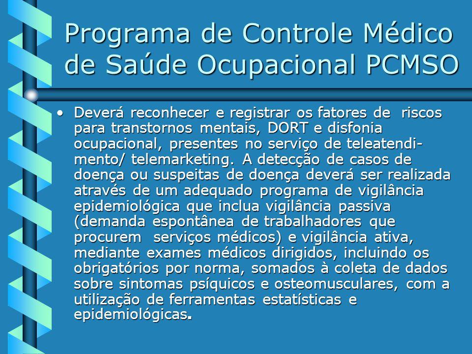 Programa de Controle Médico de Saúde Ocupacional PCMSO