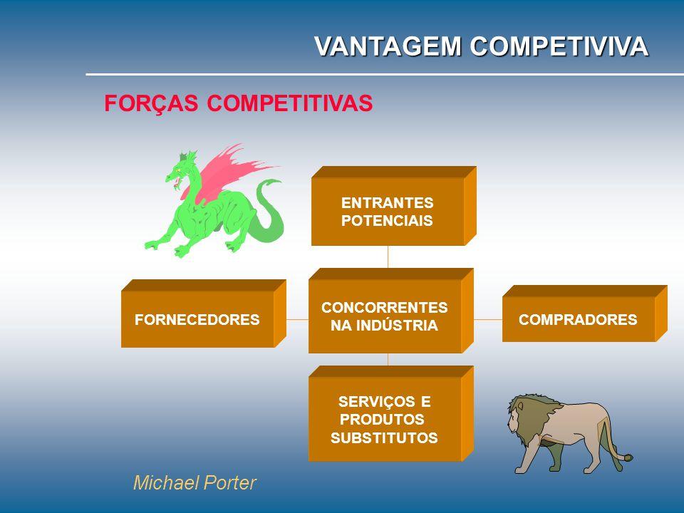 VANTAGEM COMPETIVIVA FORÇAS COMPETITIVAS Michael Porter ENTRANTES