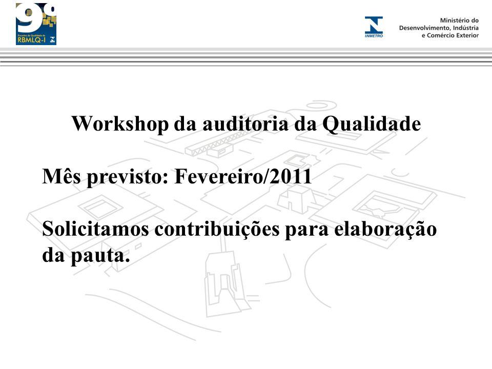 Workshop da auditoria da Qualidade
