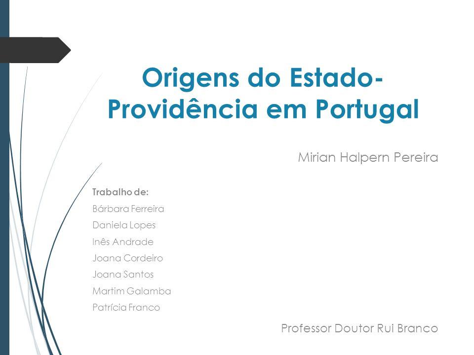 Origens do Estado-Providência em Portugal