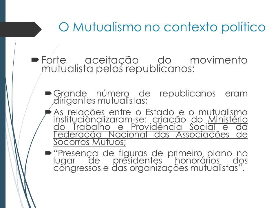 O Mutualismo no contexto político