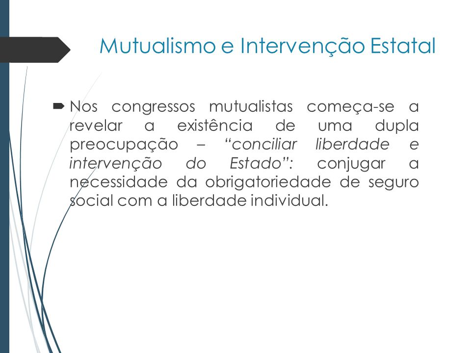 Mutualismo e Intervenção Estatal