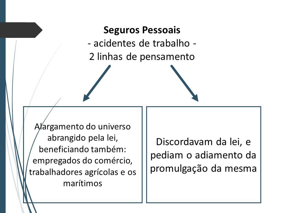 - acidentes de trabalho - 2 linhas de pensamento