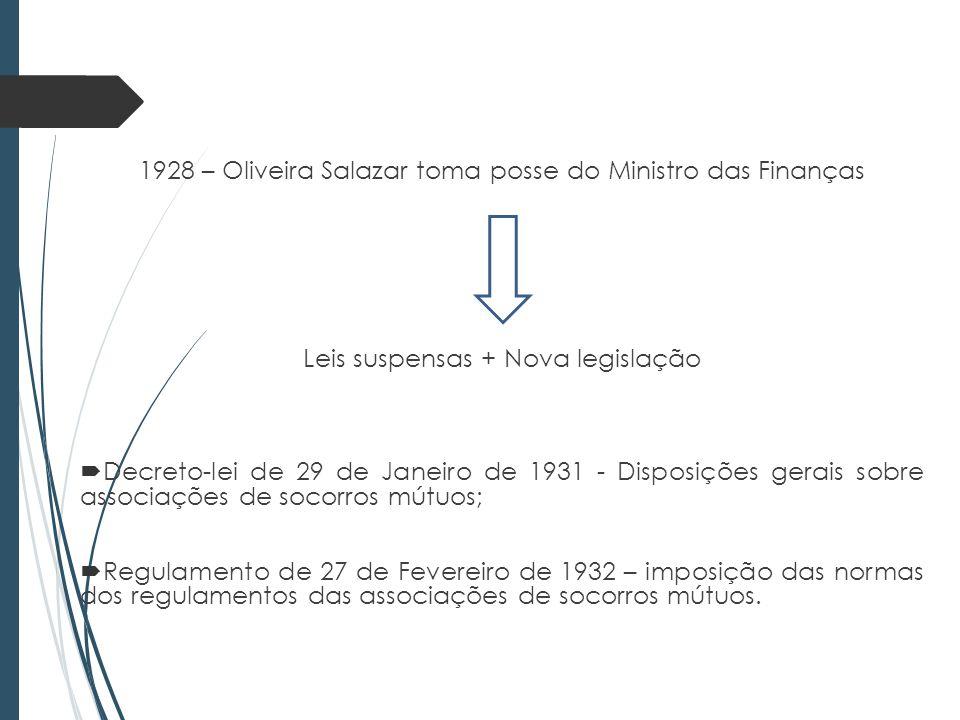 1928 – Oliveira Salazar toma posse do Ministro das Finanças